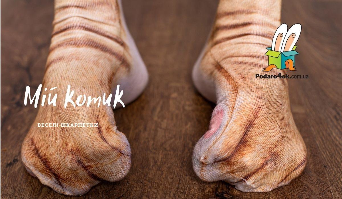 Купить прикольные носки лапы в магазине Podaro4ek