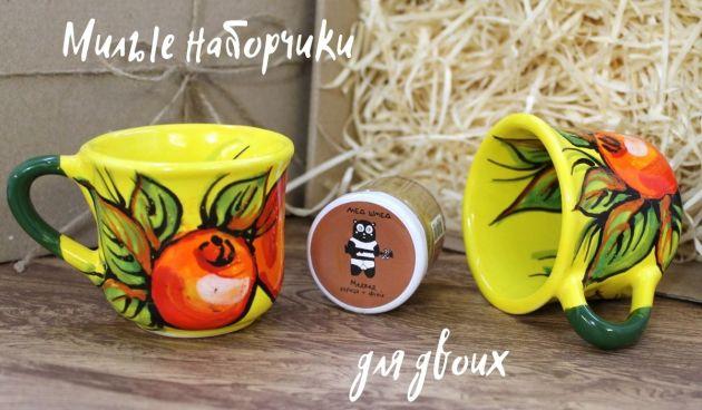 Оригинальные подарочные наборы керамики ручной работы